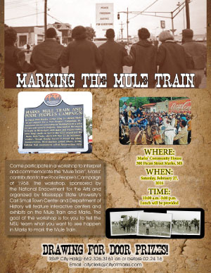 Marking the Mule Train Flyer
