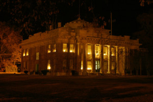 Quitman County Courthouse at Night